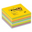 POST-IT Bloc cube déco 7,6 x 7,6 cm 450 feuilles coloris assortis Energie