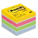 POST-IT Mini bloc cube 400 feuilles 5,1 x 5,1 cm couleur assortis Energie