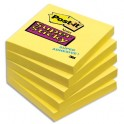 POST-IT Bloc repositionnable Super Sticky 90 feuilles 76 x 76 mm jaune jonquille