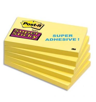 POST-IT Bloc repositionnable SUPER STICKY 90 feuilles 76 x 127 mm jaune jonquille