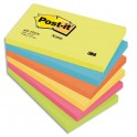 POST-IT Lot de 6 blocs repositionnables coloris Energie - 7,6 x 12,7 cm