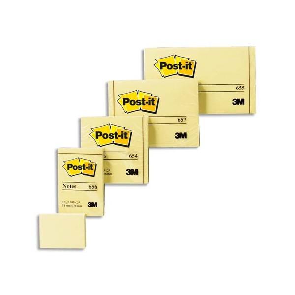 POST-IT Lot de 12 blocs repositionnables de 100 feuilles 3,8 x 5,1 cm jaune