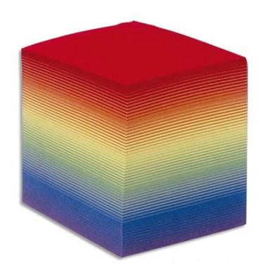 QUO VADIS Bloc cube arc en ciel 9x9x9cm 700 feuilles encollées 90g PEFC