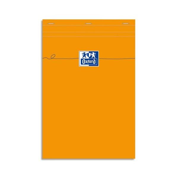 OXFORD Bloc de direction non perforé 160 pages 80g unies 21 x 29,7 cm. Couverture orange