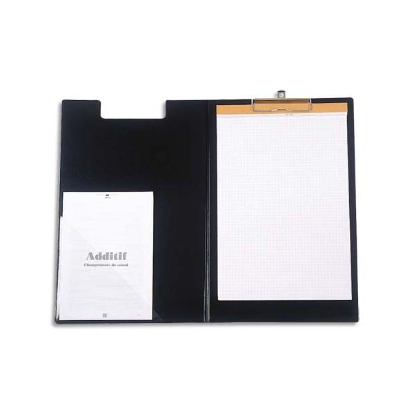 ALBA Porte-bloc à rabat noir clapin ALBERT pour bloc A4 - 23,5 x 35 cm