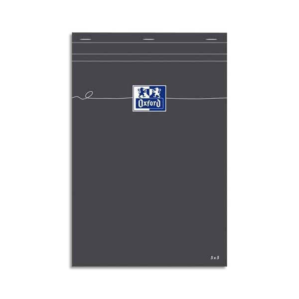OXFORD Bloc de direction gris non perforé, 5x5, 21 x 29,7 cm papier blanc
