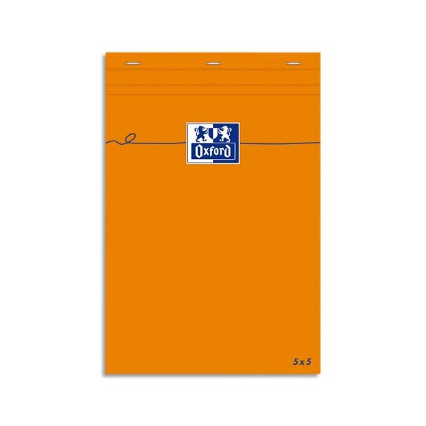 OXFORD Bloc IDEA format 7,4 x 10,5 cm 80g non perforée 5x5