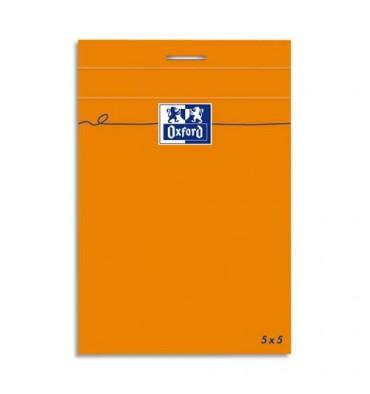OXFORD Bloc IDEA160 pages non perforées, format 8,5x12 cm, grammage 80g, 5x5 blanc