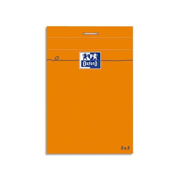 OXFORD Bloc IDEA160 pages non perforées, 8,5 x 12 cm, 80g, 5x5 blanc