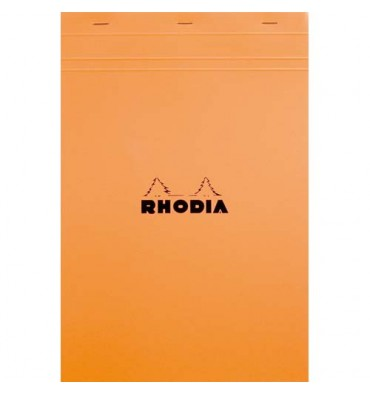RHODIA Bloc de direction couverture orange 80 feuilles (160 pages) format A4 réglure unie
