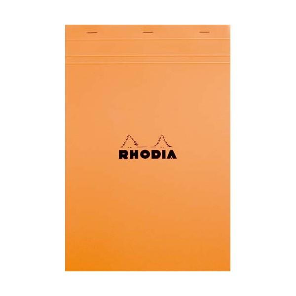 RHODIA Bloc de direction couverture orange 80 feuilles (160 pages) format A4 réglure unie