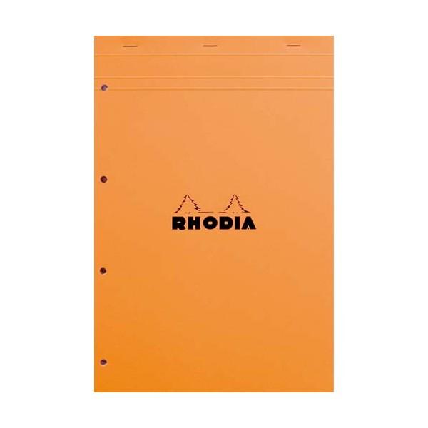 RHODIA Bloc de direction couverture orange 80 feuilles détachables+perforées format A4+ réglure 5x5