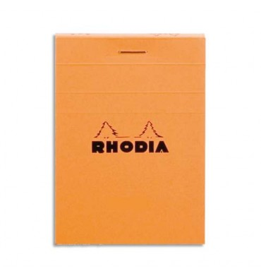 RHODIA Bloc de direction couverture orange 80 feuilles (160 pages) format A6 réglure 5x5