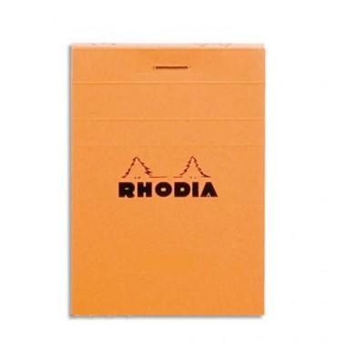 RHODIA Bloc de direction couverture orange 80 feuilles (160 pages) format A6+ réglure 5x5