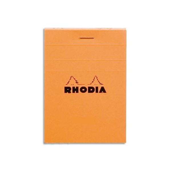 RHODIA Bloc de direction couverture orange 80 feuilles (160 pages) format A6 réglure 5x5