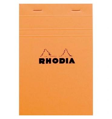 RHODIA Bloc de direction couverture orange 80 feuilles (160 pages) format 11 x 17 cm réglure 5x5