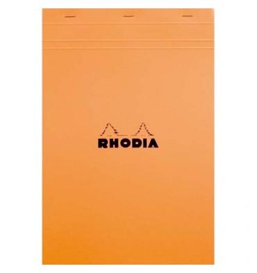 RHODIA Bloc de direction couverture orange 80 feuilles détachables format A4+ réglure ligné