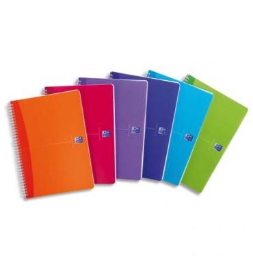 OXFORD My Colours Cahier reliure intégrale A4 100 pages 5x5 - Couvertures polypropylènes assorties