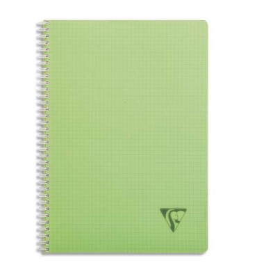 CLAIREFONTAINE Cahier spirale couverture polypropylène 100 pages A4 Seyès assortis