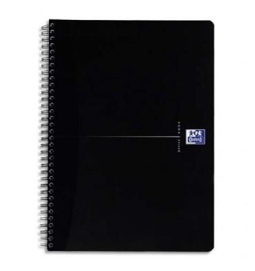 OXFORD Cahier BLACK 90g couverture carte spiralé 180 pages lignée 7 mm 14,8 x 21 cm coloris assortis