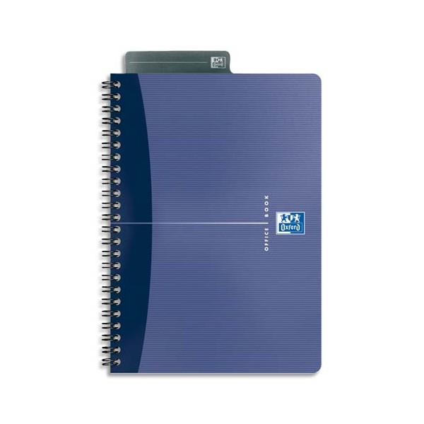 OXFORD Cahier Essential 90g reliure spirale 14,8 x 21 cm 180 pages 5x5 assortis