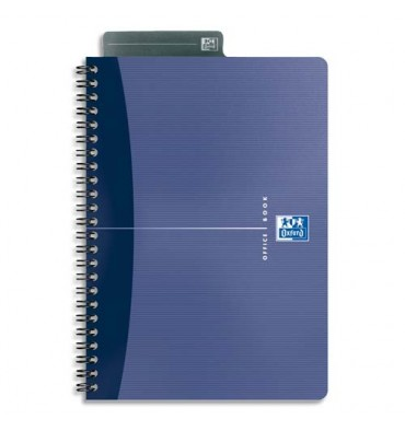 OXFORD Cahier 90g reliure spirale 21 x 29,7 cm 100 pages 5x5 couverture carte assortis