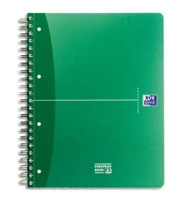 OXFORD cahier bureau EUROPEAN BOOK URBAN reliure intégrale 240 pages réglure 5x5 format 21 x 29,7 cm