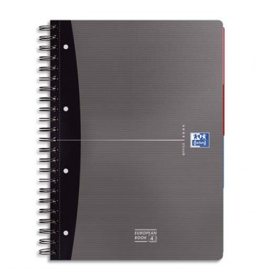 OXFORD Cahier EUROPEANBOOK ESSENTIAL spiralé 240 pages 5x5 format 21 x 31,8 cm. Couverture carte
