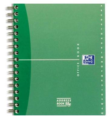 OXFORD répertoire ADRESS BOOK bureau reliure intégrale 144 pages format 14,8 x 21 cm assortis