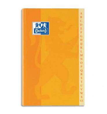 OXFORD Répertoire reliure brochure 14,8 x 21 cm 192 pages 5x5 papier 90g