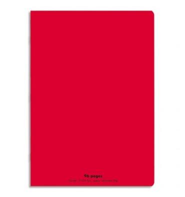 NEUTRE Cahier piqûre 96 pages Seyès 21 x 29,7 cm. Couverture polypropylène rouge