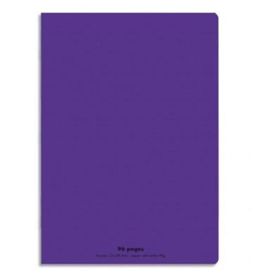 NEUTRE Cahier piqûre 96 pages Seyès 21 x 29,7 cm. Couverture polypropylène violet