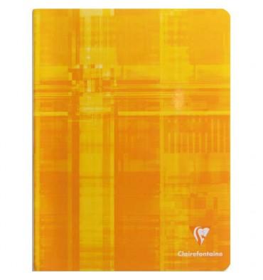 CLAIREFONTAINE Cahier reliure piqûre 17 x 22 cm 96 pages grands carreaux papier 90g