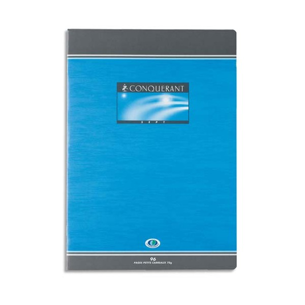 CONQUERANT SEPT BY HAMELIN Cahier reliure piqûre 17 x 22 cm 96 pages 5x5 papier 70g NF 14