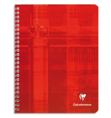 CLAIREFONTAINE Cahier reliure intégrale 21 x 29,7 cm 360 pages seyès. Couvertures carte assorties