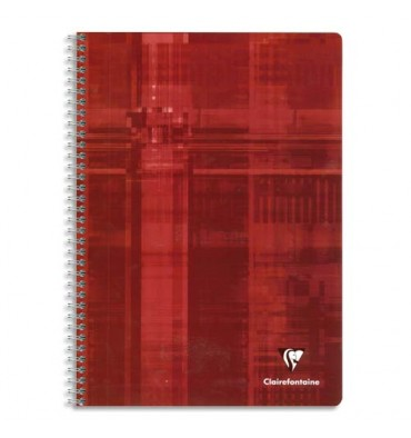 CLAIREFONTAINE Cahier reliure spirale 21 x 29,7 cm 180 pages 5x5 papier 90g