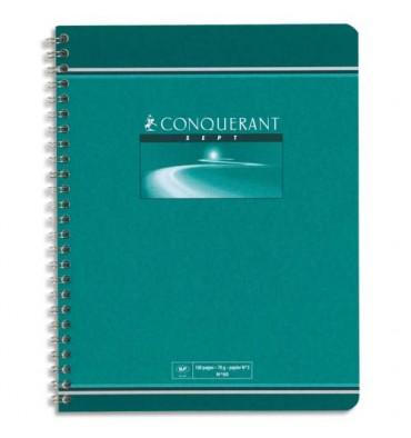 CONQUERANT SEPT BY HAMELIN Cahier reliure spirale 17 x 22 cm 180 pages petits carreaux papier 70g