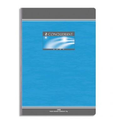 CONQUERANT BY HAMELIN Cahier reliure brochure 17 x 22 cm 192 pages 5x5 papier 70g NF 20