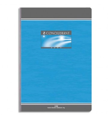 CONQUERANT BY HAMELIN Cahier reliure brochure 21 x 29,7 cm 192 pages 5x5 papier 70g