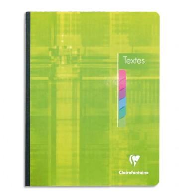 CLAIREFONTAINE Cahier de texte broché 144 pages Seyès 17 x 22 cm. Couverture carte