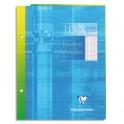 CLAIREFONTAINE Feuillets mobiles 17 x 22 cm 100 pages grands carreaux blancs 90g - Sous étuis carton