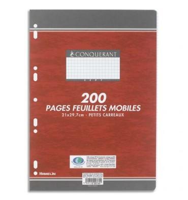 CONQUERANT 7 BY HAMELIN Feuillets mobiles 21 x 29,7 cm 200 pages grands carreaux blancs papier 90g
