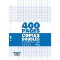 NEUTRE Etui filmé copies doubles perforées 400 pages Seyès 21x29,7cm 70g Papier blanc