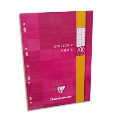 CLAIREFONTAINE Copies doubles perforées blanche 21 x 29,7 cm 200 pages 5x5 90g Sous étuis carton