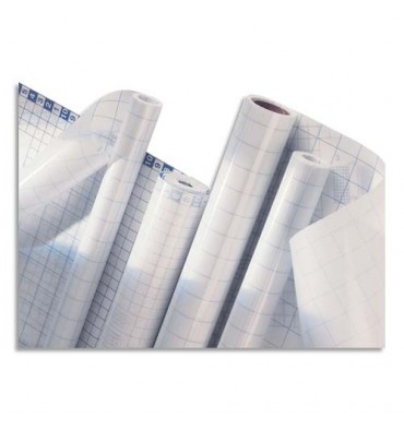 ELBA Rouleau couvre-livres adhésif repositionnable 0,45 x 1 m. Qualité brillante. Incolore