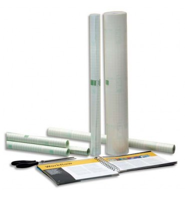 AGIPA Rouleau couvre-livres 0,33 x 10 m repositionnable sous film rétractable - Qualité mate - 60 microns