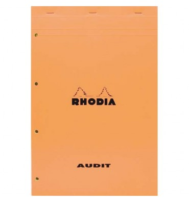 RHODIA Bloc audit format 21 x 32 cm 80 g 80 pages perforé