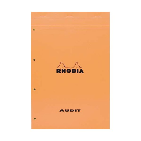 RHODIA Bloc audit format 21 x 32 cm 80 g 80 pages perforé