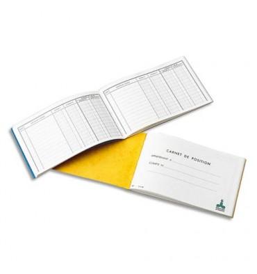LE DAUPHIN Carnet position de banque 10,7 x 17,3 cm 24 pages