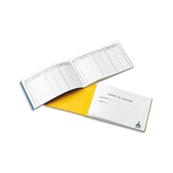 LE DAUPHIN Carnet position de banque 10,7 x 17,3 cm 48 pages